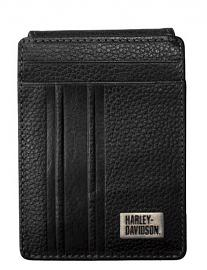 Harley-Davidson® Men's Racer Stripe ID Card | Front Pocket Wallet | RFID Protection