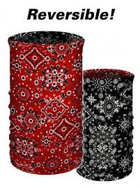 That's A Wrap® Multi-Functional Tube Headwear | Classic Bandana Print | Reversible Black To Red
