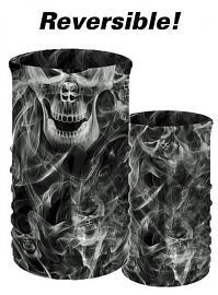 That's A Wrap!® Multi-Functional Tube Headwear | Smoky Skulls Transformer Tube™ | Reversible Skull & Smoke To Smoke Only