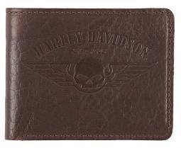 Harley-Davidson® Men's American Bison Skull Billfold | Willie G® Skull Logo