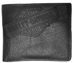 Harley-Davidson® Men's Genuine Bison Leather Classic Billfold