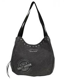 Harley-Davidson® Women's Bar & Shield® Embroidery Bucket Handbag