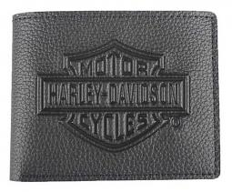 Harley-Davidson® Men's Embossed Bar & Shield® Billfold Wallet