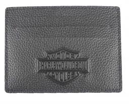 Harley-Davidson® Men's Embossed Bar & Shield® Front Pocket Wallet
