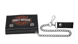 "Harley-Davidson® Men's Bar & Shield® Medium Trucker Wallet | 19"" Chain"