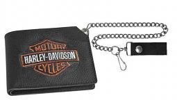 "Harley-Davidson® Men's Bar & Shield® Short Trucker Wallet | 19"" Chain"