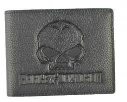Harley-Davidson® Men's Willie G® Skull Embossed Leather Billfold Wallet