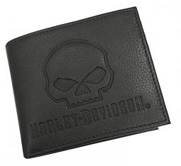 Harley-Davidson® Men's Skull Embossed Pocketed Billfold | Willie G®
