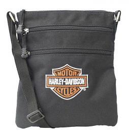 Harley-Davidson® Women's Embroidered Bar & Shield® Logo Crossbody Bag | Sling Bag | Adjustable Strap