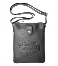 Harley-Davidson® Women's Embossed Bar & Shield® Crossbody Bag | North-South Bag