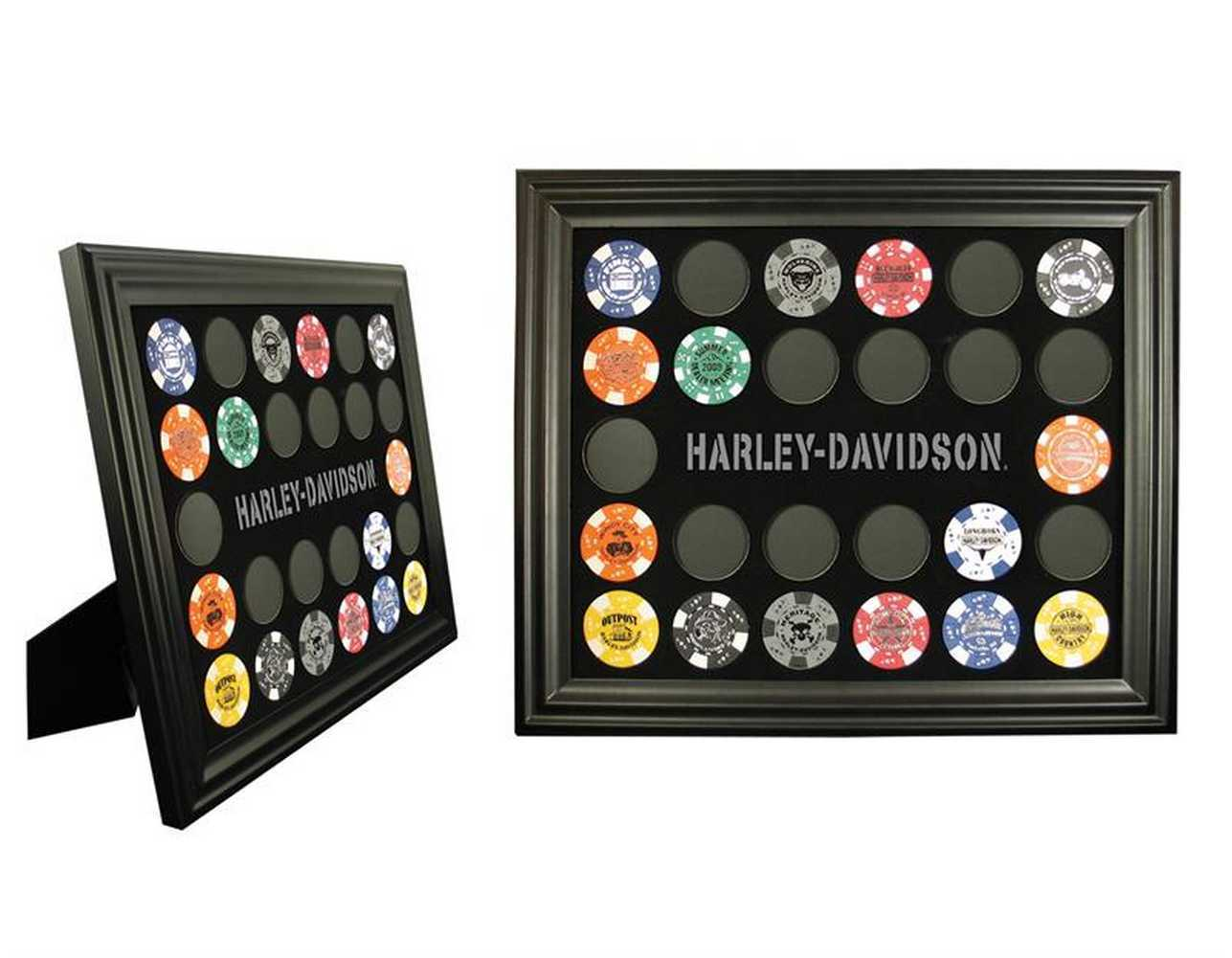 Harley-Davidson® Black 26 Poker Chip Collectors' Frame