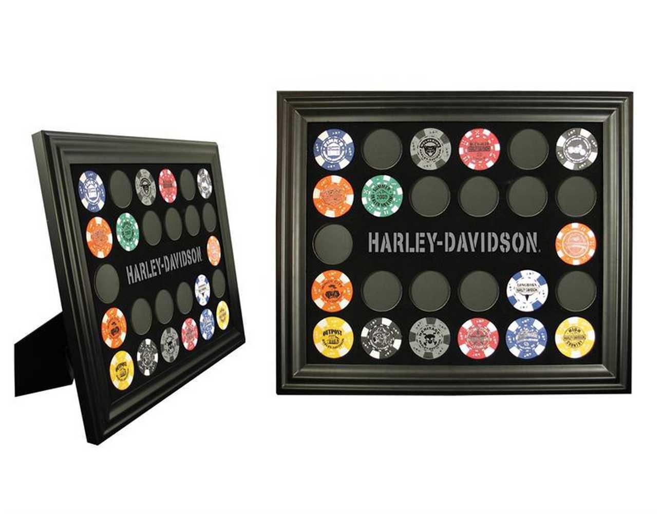 Harley-Davidson® Black 26 Poker Chip Collectors' Frame
