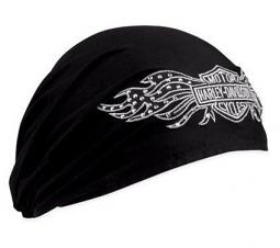 Harley-Davidson® Women's Studded Winged Bar & Shield Head Wrap