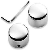 Harley-Davidson® Classic Chrome Front Axle Nut Cover Kit 43899-86A