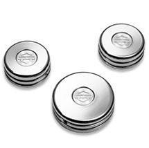 Harley-Davidson® Chrome Upper Fork Nut Covers- 46109-06