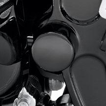 Harley-Davidson® Swingarm Pivot Bolt Cover Kit - Gloss Black