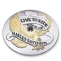 Harley-Davidson® Gold Live to Ride Logo Collection Air Cleaner Trim 29328-99