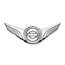 Harley-Davidson® Bar & Shield Logo with Wings Decorative Medallion - Chrome