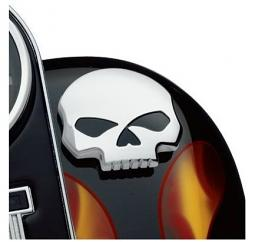 Harley-Davidson® Willie G® Skull Chrome Collection | Custom Right Side Fuel Tank Cap
