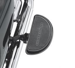 Harley-Davidson® Half-Moon Passenger Footboard Pans with Inserts - Gloss Black