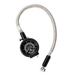 Harley-Davidson® Compact Tire Gauge and Tread Depth Indicator with Braided Stainless Steel Lead