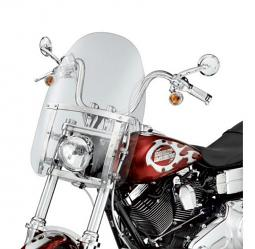 Harley-Davidson® Quick-Release 18 Inch Detachable Compact Windshield Clear