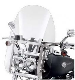 Harley-Davidson® Quick-Release Detachable  19 Inch Compact Windshield Clear with Polished Braces
