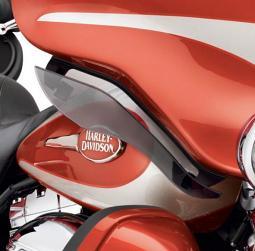 Harley-Davidson® Adjustable Air Deflector Kit Light Smoke