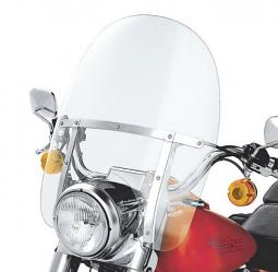 Harley-Davidson® King-Size Detachables™ 19 Inch Windshield for Nacelle-Equipped Models Without Auxiliary Lamps Clear