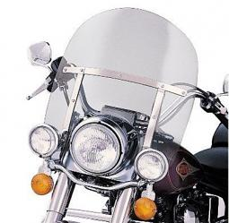 Harley-Davidson® King-Size Detachables™ 16 Inch Windshield for Nacelle-Equipped Models With Auxiliary Lamps Light Smoke