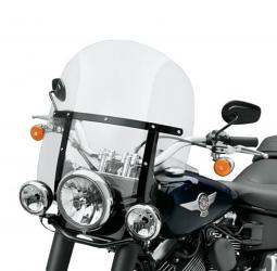 Harley-Davidson® King-Size Detachables™ Windshield for FL Softail® Models 18 Inch Light Smoke/Gloss Black Braces