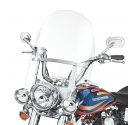Harley-Davidson® King-Size Detachables™ 23 Inch Windshield for FL Softail® Models Clear/Polished Braces