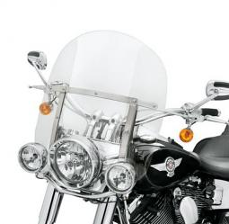 Harley-Davidson® King-Size Detachables™ Windshield for FL Softail® Models 18 Inch Clear/Polished Braces