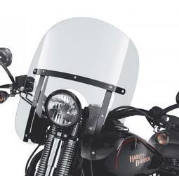 Harley-Davidson® Springer™ Softail® Detachables™ Compact Windshield Clear/Black Braces