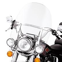 Harley-Davidson® King-Size Detachables™ 19 Inch Windshield for Nacelle-Equipped Models With Auxiliary Lamps Clear