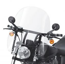 Harley-Davidson® Quick-Release Compact Windshield 19 Inch Clear/Black Braces