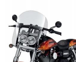 Harley-Davidson® 19 Inch Quick-Release Compact Windshield Clear/Black Braces