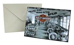 "Harley-Davidson® ""In The Shop"" Get Well Card"