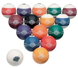 Harley-Davidson® Bar & Shield® Flames Billiard Ball Set