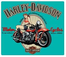 Harley-Davidson® Legendary Babe Embossed Tin Sign