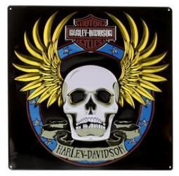 Harley-Davidson® Spade Skull Tin Sign