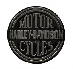 Harley-Davidson® Embossed Platinum Round Tin Sign