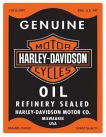 Harley-Davidson® Genuine Motor Oil Tin Sign