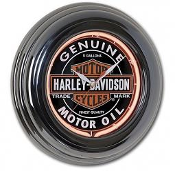Harley-Davidson® Oil Can Neon Wall Clock