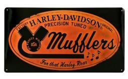 Harley-Davidson® Mufflers Roar Tin Sign