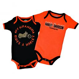 Harley-Davidson® Boys' 2-Pc Creeper Set | My Grandma Rides a Harley