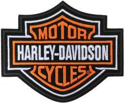 Harley-Davidson® Orange Bar & Shield® Emblem | Medium