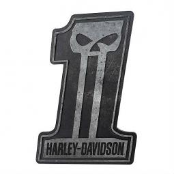 Harley-Davidson® Dark Custom #1 Sculpted Skull Pub Sign