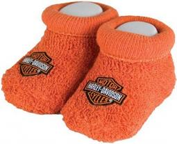 Harley-Davidson® Newborn Baby Booties | Boxed | Fits 0-3 Months
