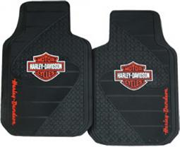 Harley-Davidson® Orange Bar & Shield® Floor Mats
